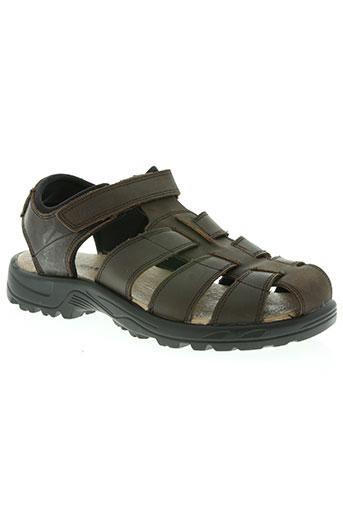 manitou chaussures homme de couleur marron