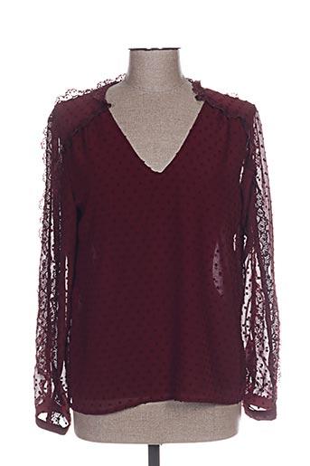 kilky chemises femme de couleur rouge