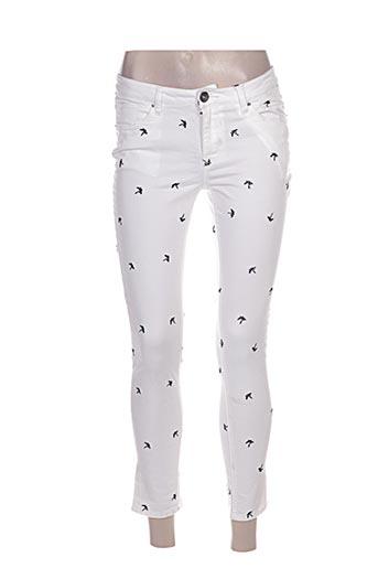 garcia jeans femme de couleur blanc