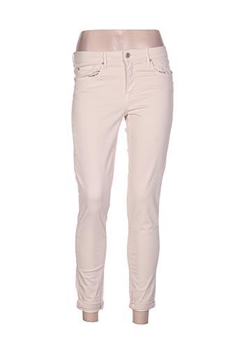 carla kops pantalons femme de couleur beige