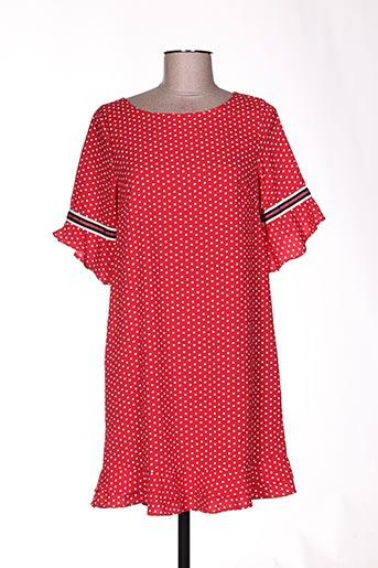 quinze heures trente tuniques femme de couleur rouge