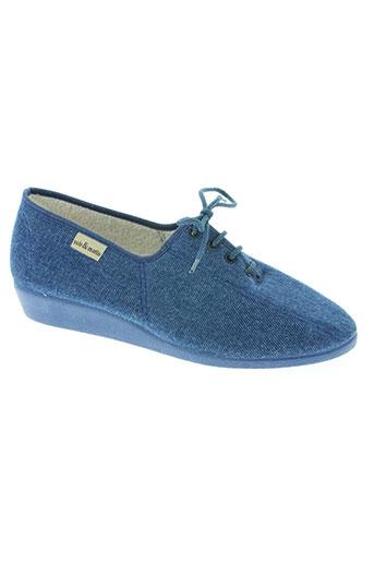 soir et matin chaussures femme de couleur bleu