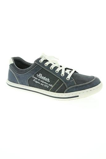 rieker chaussures homme de couleur bleu