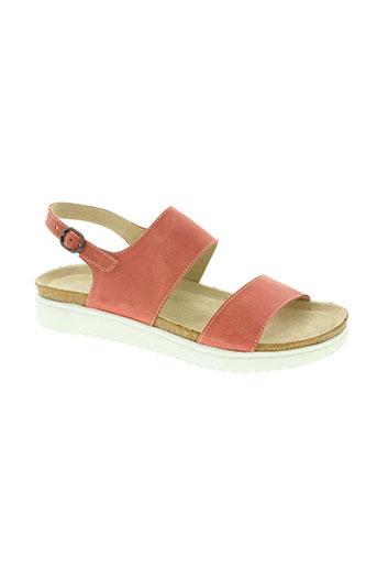 pedi green chaussures femme de couleur rose