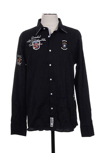aristow chemises homme de couleur noir
