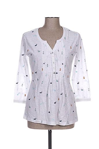 mistral t-shirts femme de couleur blanc