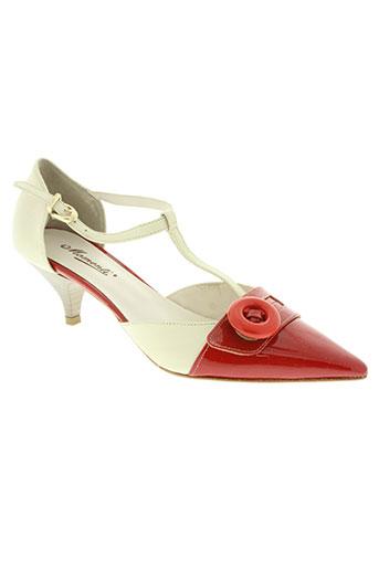 momenti chaussures femme de couleur rouge