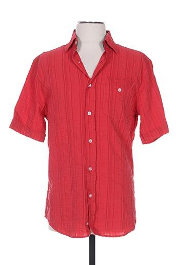 monte carlo chemises homme de couleur rouge