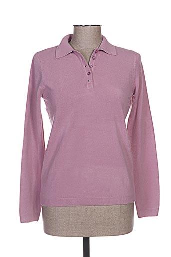 cashmere feeling t-shirts femme de couleur violet