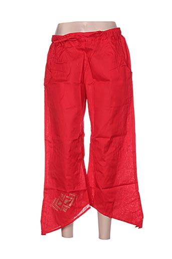 bamboo's pantacourts femme de couleur rouge