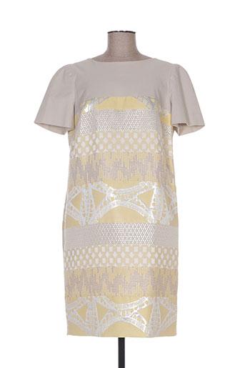 la manufacture 8 linvingstone robes femme de couleur jaune