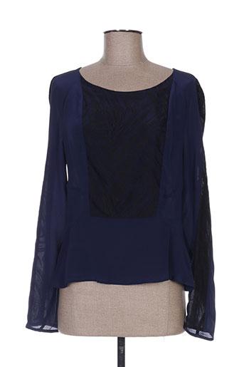 la manufacture 8 linvingstone chemises femme de couleur bleu