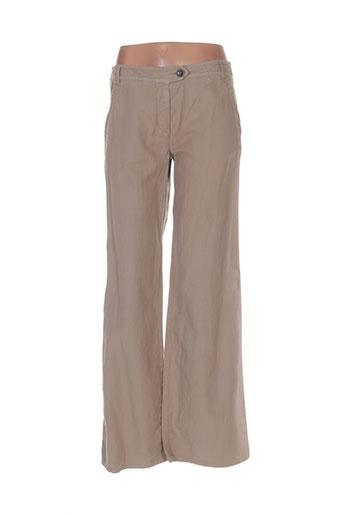 maxmara pantalons femme de couleur beige