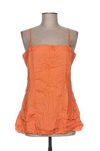 l33 chemises femme de couleur orange