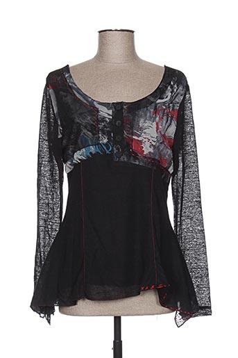 l33 chemises femme de couleur noir
