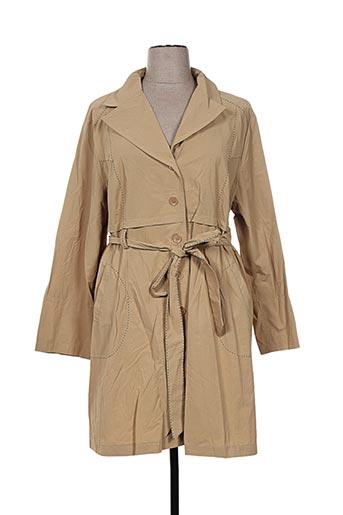 l33 manteaux femme de couleur beige