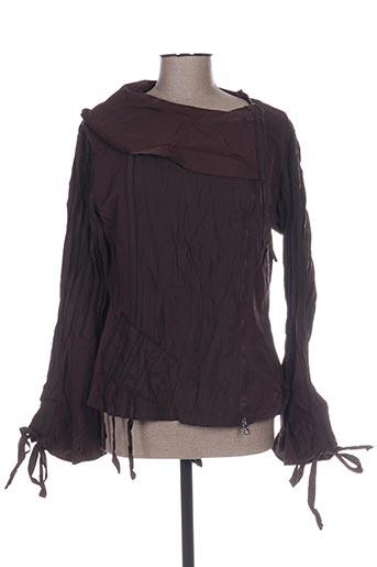 franstyle vestes femme de couleur marron