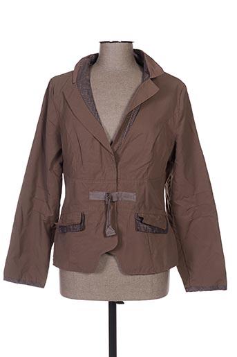 l33 vestes femme de couleur marron