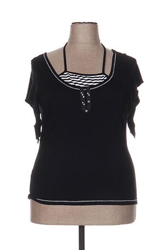 instants voles t-shirts femme de couleur noir