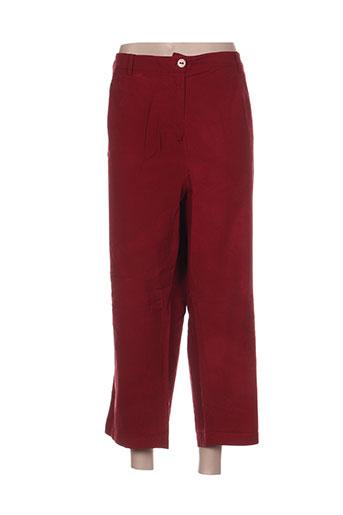 les marins de jac jac pantalons femme de couleur rouge