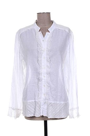 solola chemises femme de couleur blanc