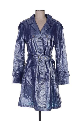 et dieu crea la femme manteaux femme de couleur bleu