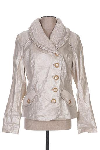 beaumont vestes femme de couleur beige