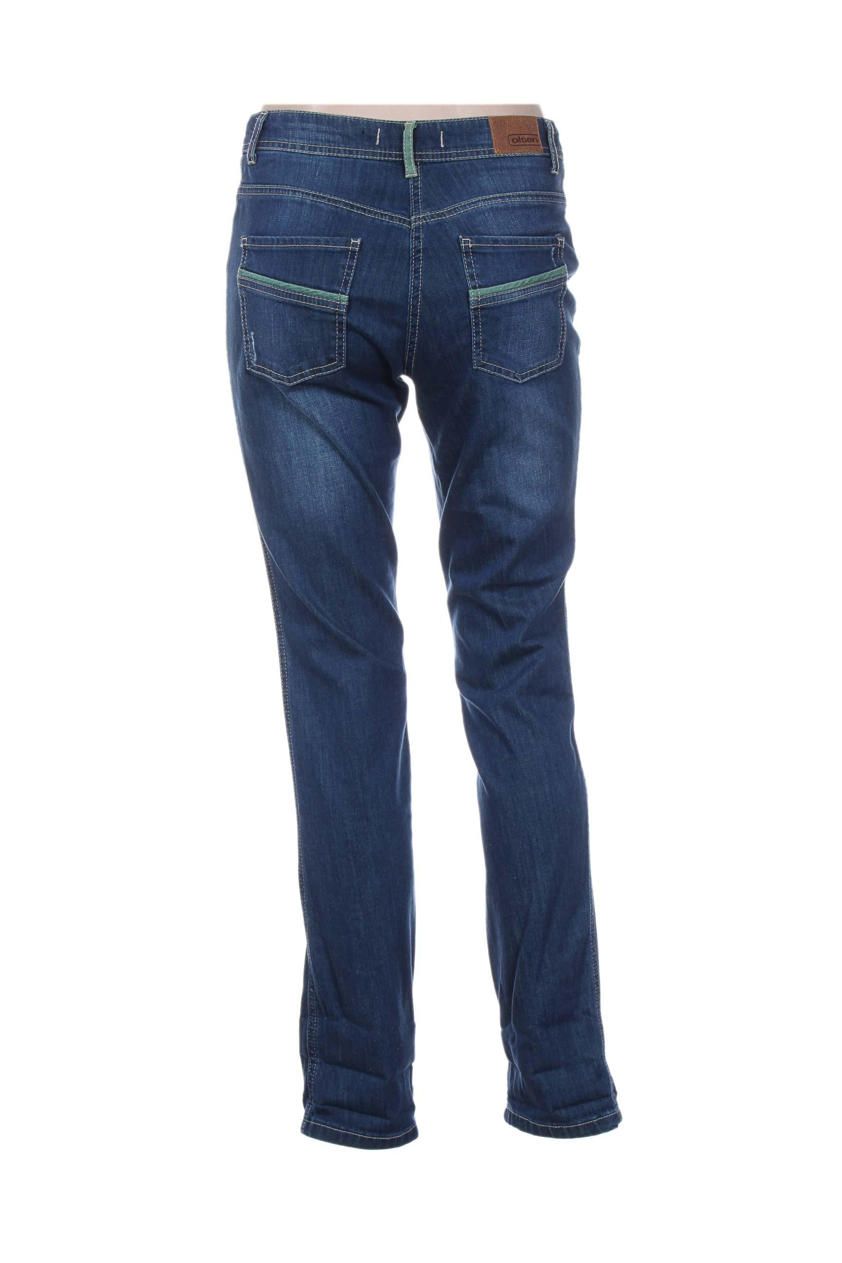 Olsen Jeans Coupe Slim Femme De Couleur Bleu En Soldes Pas Cher 1207217-bleu00