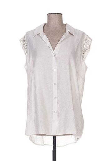 eva kayan chemises femme de couleur beige