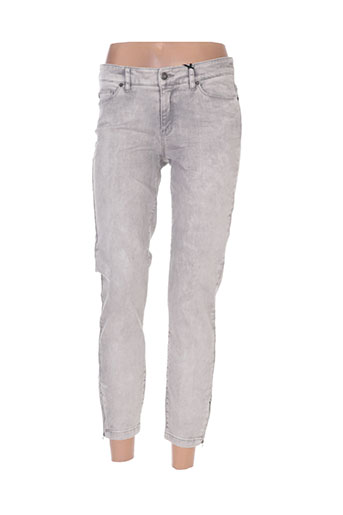 ikks jeans femme de couleur gris