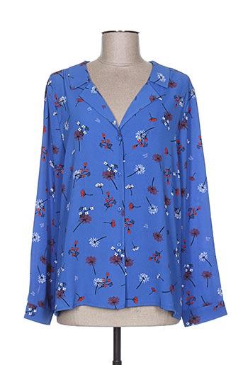 lili EFFI_CHAR_1 lala chemises femme de couleur bleu