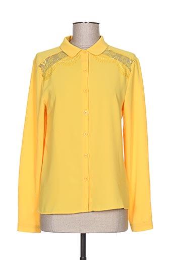 cerise blue chemises femme de couleur jaune