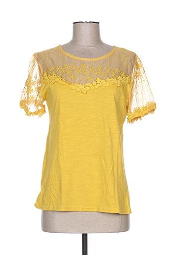 season chemises femme de couleur jaune