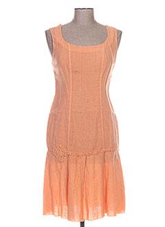 Robe mi-longue orange ROSA ROSAM pour femme