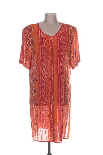lewinger chemises femme de couleur orange