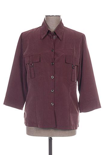 lewinger chemises femme de couleur rouge