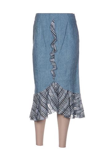 coco menthe jupes femme de couleur bleu