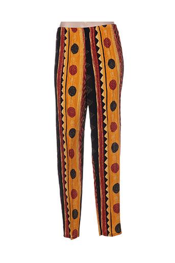 canat pantalons femme de couleur jaune