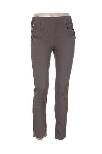 Pantalon 7/8 vert MARIE-SIXTINE pour femme