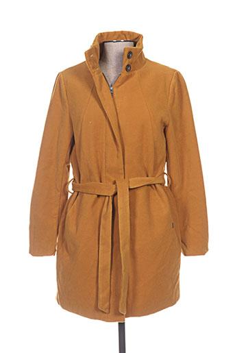 b.young manteaux femme de couleur jaune