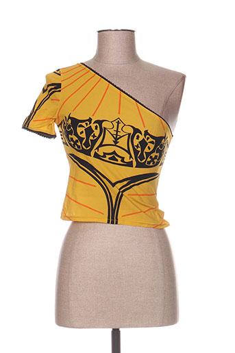 levana lee t-shirts femme de couleur jaune