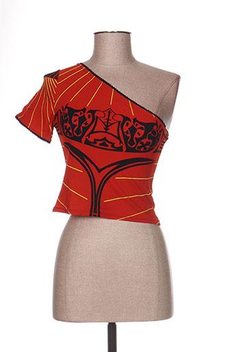 T-shirt manches courtes orange LEVANA LEE pour femme