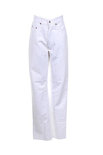 rizer jeans femme de couleur blanc