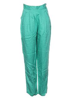 Pantalon casual vert BUFFALO pour femme