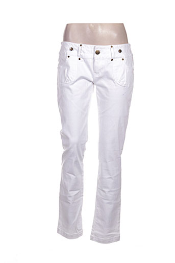 Pantalon casual blanc GOLDDIGGA pour femme