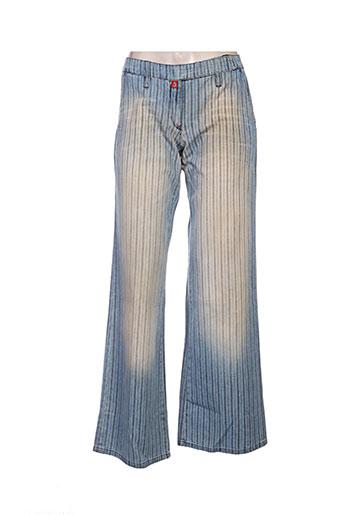Pantalon casual bleu BEYOUK pour femme