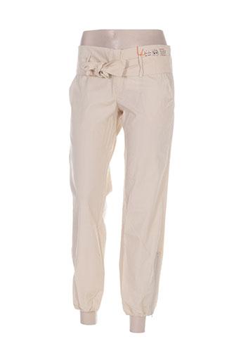 Pantalon casual beige BEYOUK pour femme