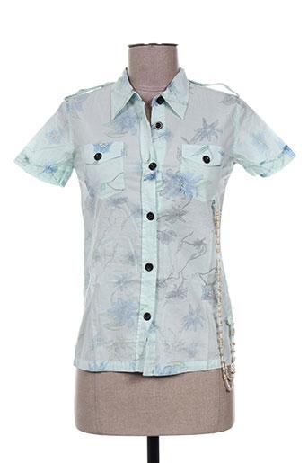 rwd chemises femme de couleur bleu