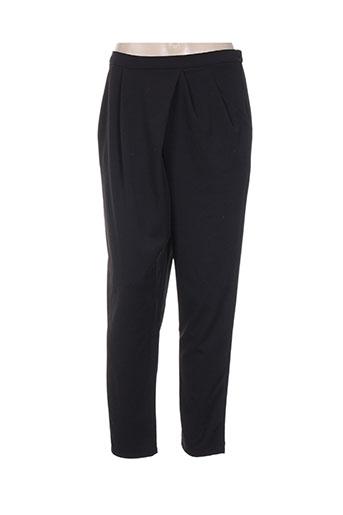 jcl pantalons femme de couleur noir
