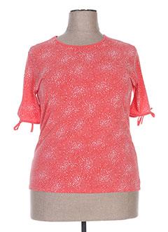 T-shirt manches courtes orange FAFA MOD pour femme